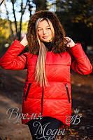 Зимняя куртка пуховик. Красная, 5 цветов. Р-ры: S,M,L