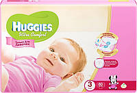 Подгузники Huggies Ultra Comfort №3 5-9 кг (хаггис ультра комфорт) для девочек 1 шт