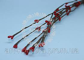 Вербовая веточка красная, длина 40 см