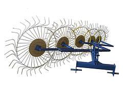 Грабли ворошилки (Солнышко) 5-ти колёсные Ø 6 мм Украина
