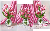 Схема для вышивки бисером  триптихТюльпаны