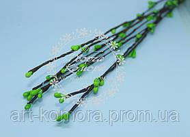 Вербовая веточка зеленая, длина 40 см