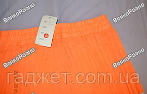 Оранжевая женская длинная юбка в пол., фото 2