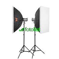 Набор студийного света Falcon SS-250H KIT-2-60х90, 2х150 Дж