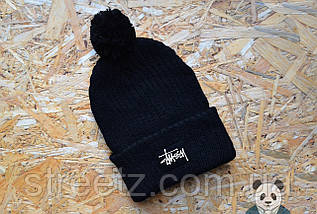 Шапка зимняя с бубоном Stussy / Стусси , фото 2