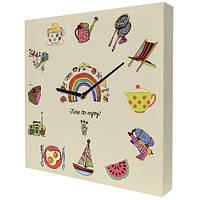 Часы на холсте с принтом Расписание