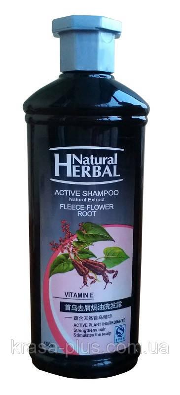 Шампунь для роста волос с экстрактом горца многоцветкового и витамином Е