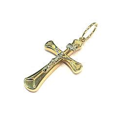 Католический крест желтое золото