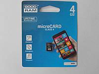 Карта памяти Micro SD 4Gb  Class4