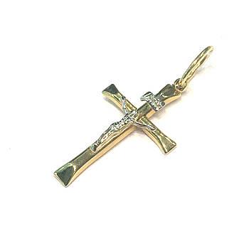 Католический крест из желтого золота