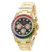 Часы Rolex Daytona Elite Gold (Механика) Gold/Black. Replica: ААА., фото 1