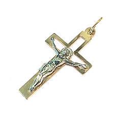 Золотой католический крест