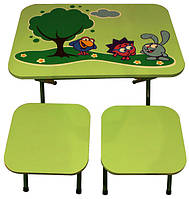 Столик и 2 стульчика Ommi Смешарики зеленая