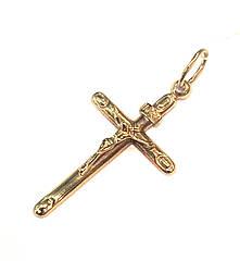 Золотой католический крестик
