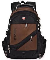 Рюкзак швейцарского бренда Wenger SwissGear. Модель 1418 (коричневый).