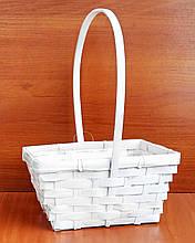 Кошик з бамбука біла 26х18,5 см
