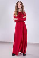 Женское вечернее шелковое платье с рюшами