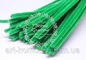 Синельная проволока, зеленая, 30 х 0,5 см