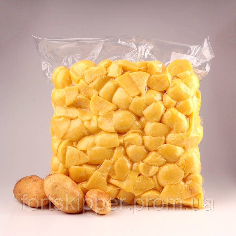 Линия стерилизации картофеля и упаковке в вакуум 2000 кг/ч