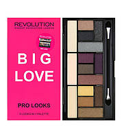 MUR Pro Looks - Палетка из 15 оттенков теней для 3-х образов (Big Love), 13 г