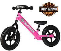 Беговел Strider SPORT Harley Davidson Розовый, фото 1