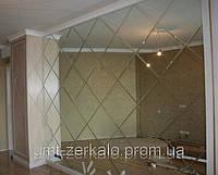 Плитка зеркальная с фацетом 10мм серебро 150*150 мм