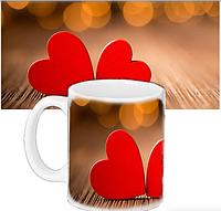 Кружка с принтом  для любимых - Валентинка