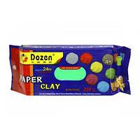 Масса для лепки самозатвердевающая СВЕТЛО-ЗЕЛЕНАЯ (глина) 250 гр, Dozen PCL250