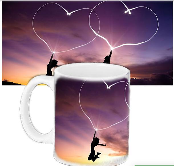 Кружка в подарок  для любимых - Небесные сердца