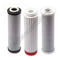 Сменные модули (картриджи) для фильтра Аквафор Трио для жесткой воды (В510-03-04-07, комплект из 3 шт.)