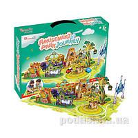 Трехмерная головоломка-конструктор CubicFun Поездка в парк развлечений