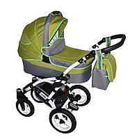 Детская коляска универсальная 2 в 1 Viano Donatan, зеленый лен - оливка