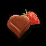 Шоколадные конфеты в коробке Milka I Love с клубничным пралине, 110 гр, фото 2