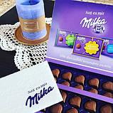 Шоколадные конфеты в коробке Milka I Love с клубничным пралине, 110 гр, фото 5