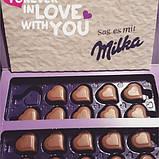 Шоколадные конфеты в коробке Milka I Love с клубничным пралине, 110 гр, фото 3