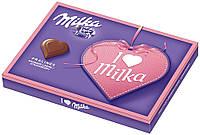 Шоколадные конфеты в коробке Milka I Love с клубничным пралине, 110 гр, фото 1