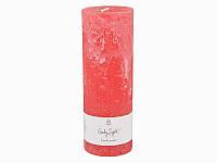 Свеча декоративная цилиндрическая Красная 7Х20 см Candy Light 029-113