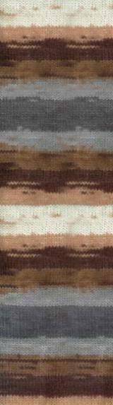 Полушерстяная пряжа (100г/240м, 49%-шерсть, 51%-акрил) Alize Lanagold Batik 3341
