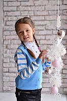 Обманка (свитер-блузка)  Many&Many на девочку, цвет голубой