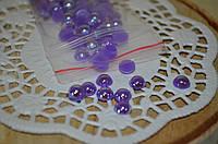 Полубусины фиолетовые