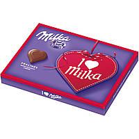 Шоколадные конфеты в коробке Milka I Love с ореховым пралине, 110 гр, фото 1