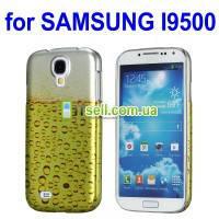 Пластиковая накладка с изображением пива для Samsung i9500 Galaxy S4