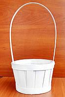 Корзина из бамбука белая 34х17 см