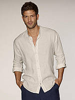 Рубашка из натрурального льна со стойкой. Любой размер, разные цвета
