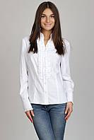 Блуза с воротником-стойка Р76