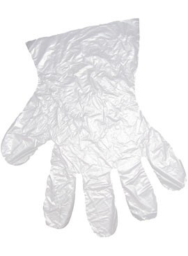Перчатки  одноразовые полиэтиленовые