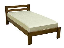 Меблі з натурального дерева. Міцьне односпальне ліжко Л-107