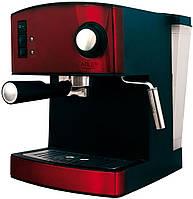 Кофеварка компрессионная Adler AD 4404 RED с капучинатором