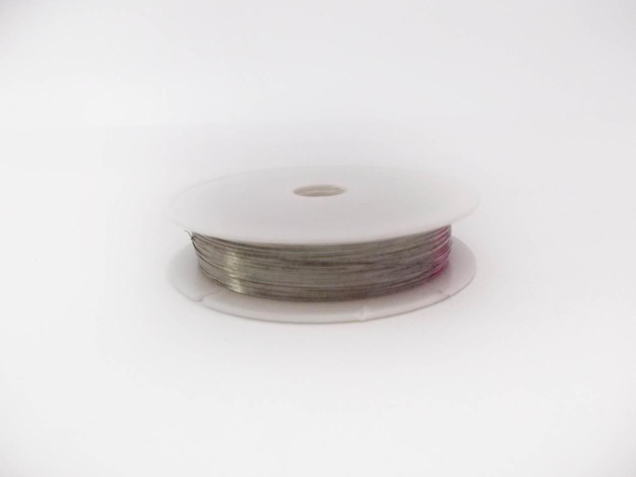 Декоративная проволока 0,3 мм Серебро флористическая