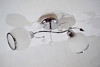 Люстра потолочная на 2 лампочки  P3- 37270B/2c (CR+WT)